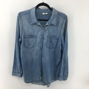 Melrose & Market Chambray Denim Shirt NWOT